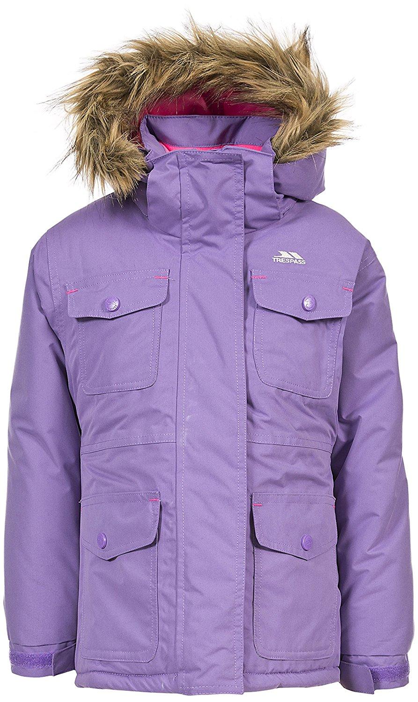 630046d92727 Buy Trespass Greer Girls Waterproof Parka Jacket Hooded Padded Kids ...