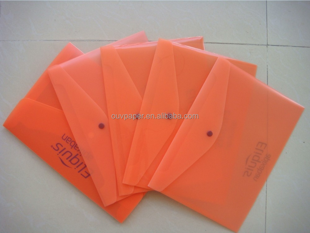 Plastic frosted envelope for office