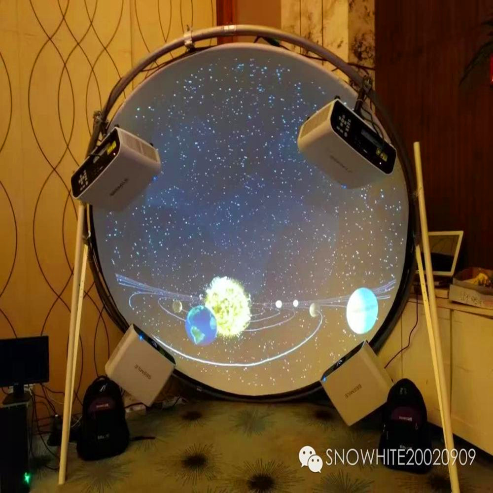 Snowhite 360 degree 5 meters diameter dome projection screen