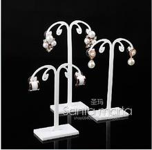 Free Shipping glass display jewelry frame black organic glass earrings display stand earrings display holder