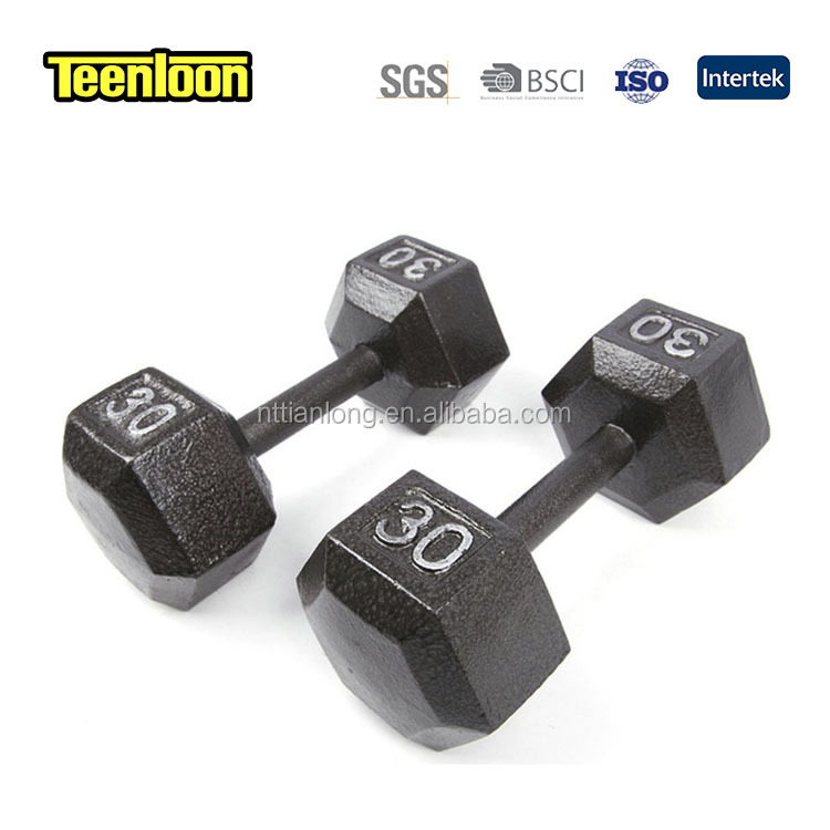 Factory custom stainless steel weight lifting dumbbell