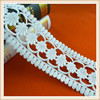 Fancy garment accessory white cotton lace crochet cotton lace by lace manufacturer