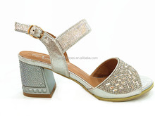 silver high heel plastic heel diamond lady party shoes