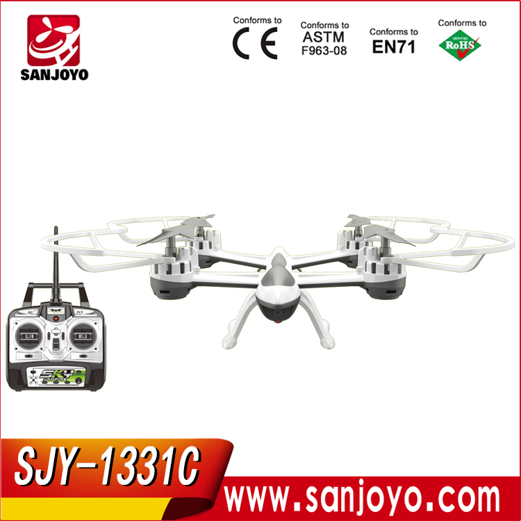 New arrival SKY HAWK 1331 2.4G 4CH 6Axis rc drone headless mode rc helicopter one key return quadcopter SJY-1331C
