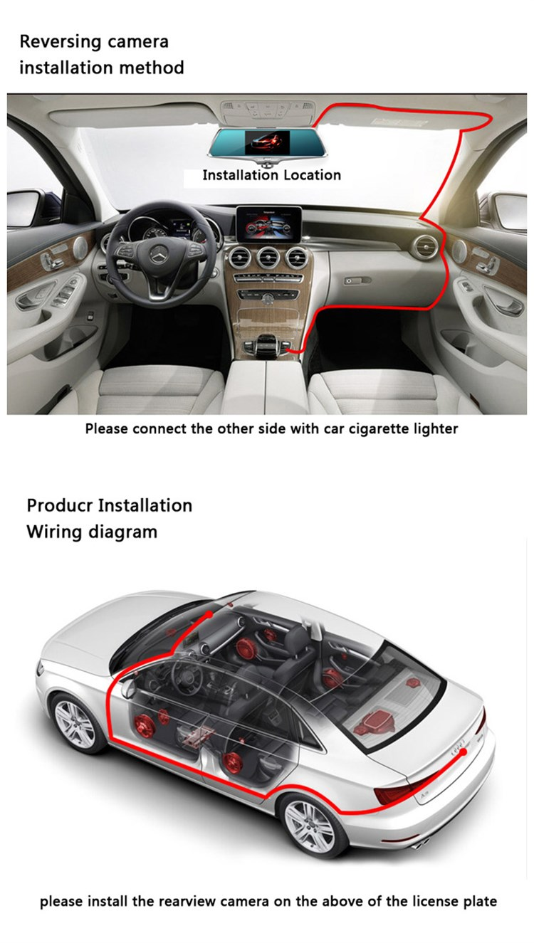 5 Inch Ips Touch Screen 19201080 A33 Quad Core Car Camera 360 Wiring Diagram Degree Dual