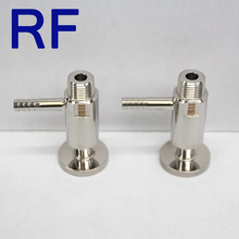 RF Sanitary Stainless Steel Threaded Sample Valve