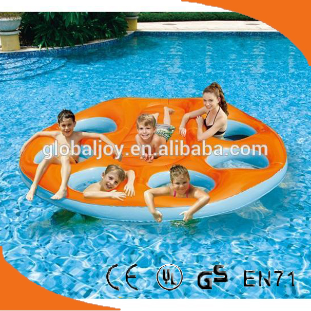 hot sale wading party raft/inflatable float island raft