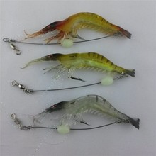 Hot selling!! 6g/9cm Luminous Shrimp Lure Soft Fishing Bait Isca Artificial Fish Lure Soft Baits