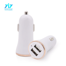 Wholesale 2.1A dual USB Car Charger For ipad/iphone/HTC/Samsung Galaxy USB Car Charger