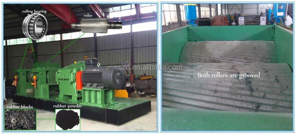 Rubber recycling machine Scrap tire crushing machine waste rubber crusher machine .jpg