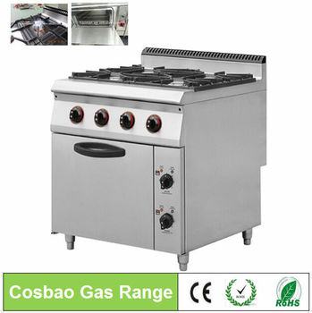 Restaurant Kitchen Gas Cooking Equipment With Electric Oven/catering  Equipment