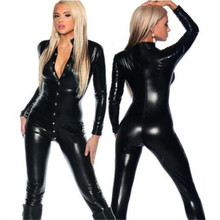 2019 mode sexy dessous frauen metallic pu <span class=keywords><strong>leder</strong></span> taste up club wet look verband bodycon <span class=keywords><strong>overall</strong></span> catsuit