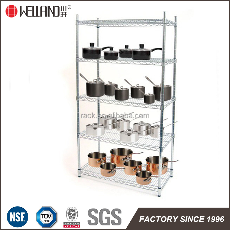Customized Product Display Showroom Used Chrome Metal Racks Manufacturer