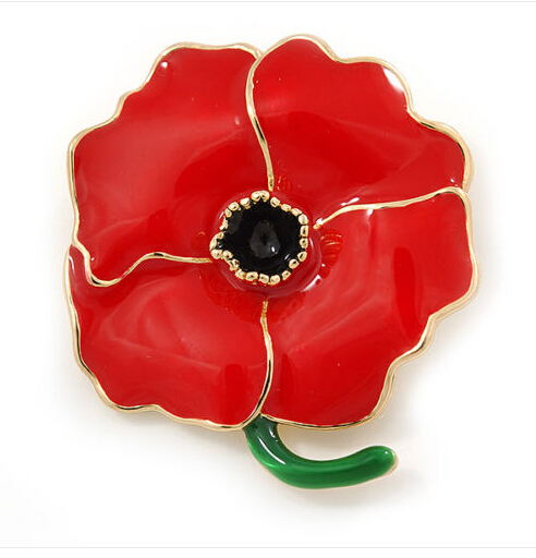 Foreign Trade of the original single red poppy brooch corsage collar pin male female clothing accessories poppy