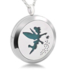 316L Stainless Steel Hollow Essential Oil Pendant Fairy Pattern Aromatherapy Charm Jewelry