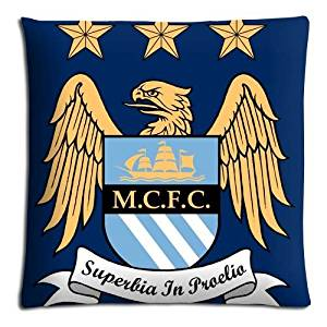 "18x18 18""x18"" 45x45cm floor pillow cases covers [ Cotton + Polyester ] easy cleaning Collection Manchester City MCFC FC soccer club logo"