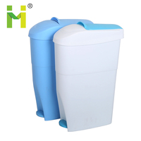 household slim plastic foot pedal kitchen cheap white office indoor trash can with lid