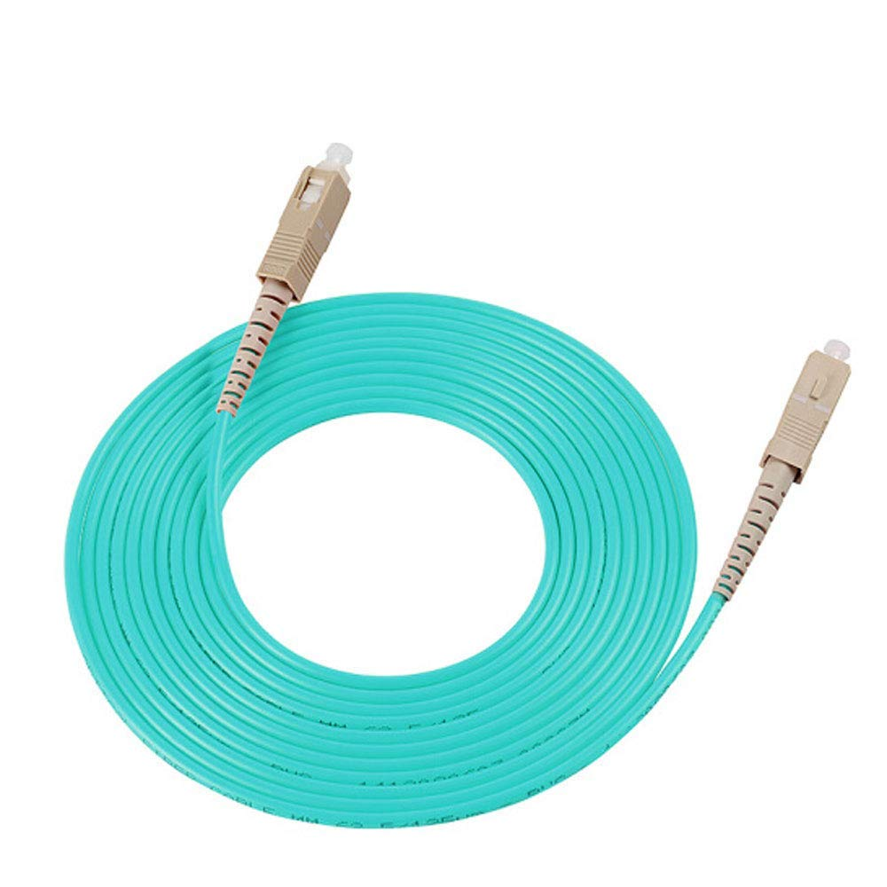 Jumper 10M Simplex 50/125 Multimode 40/100GB OM4 SC to SC Fiber Patch Cable OFNR(PVC) Length Options:1M-20M (10 Meter (32.80ft))