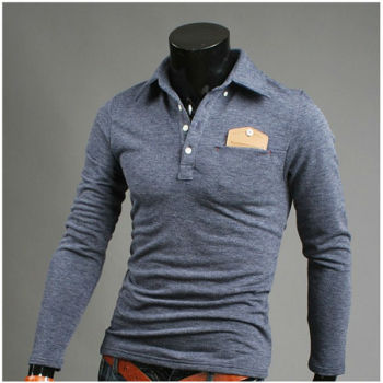 polo long sleeve t shirt with pocket