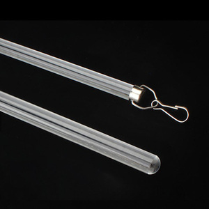 12mm transparent acrylic curtain rod with metal handle  in stock