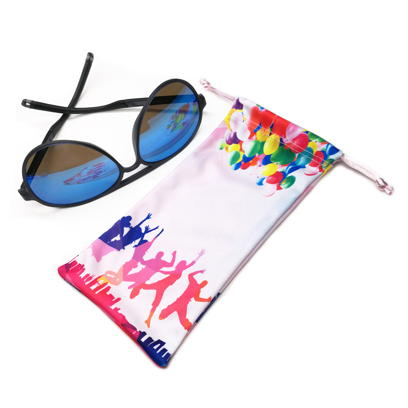 microfiber 3d glasses cloth pouch with custom logo printing