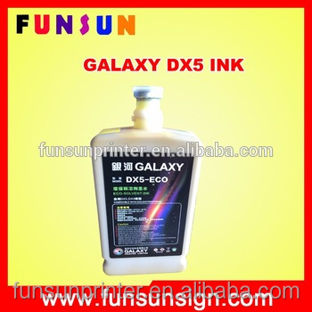 Original galaxy dx5 eco solvent ink for large format vinyl sticker printer