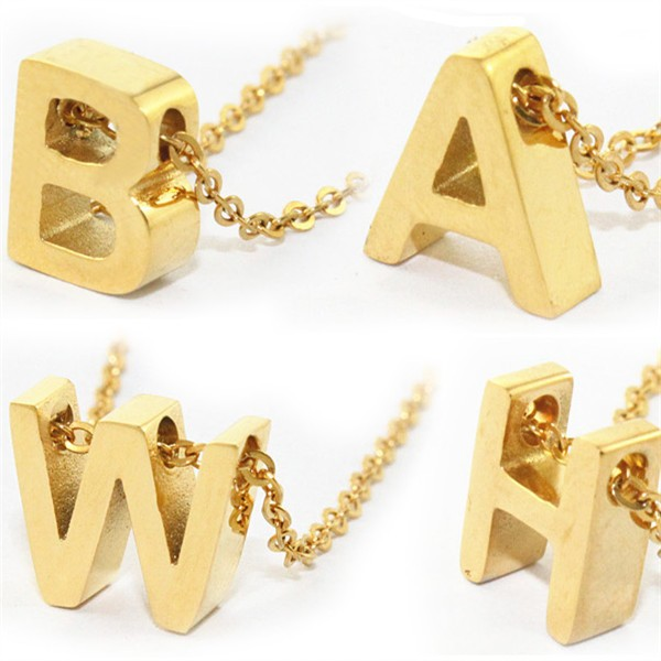 Wholesale stainless steel alphabet gold necklace jewelry buy wholesale stainless steel alphabet gold necklace jewelry buy necklacegold necklacenecklace jewelry product on alibaba mozeypictures