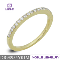 Hot selling 18K real gold with diamond ring jewelry