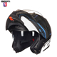 ECE approved Motorcycle Smart Helmet intercom wireless Bluetooth flip up helmet with double visors