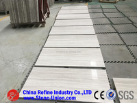 Chinese quarry owner natural polished wooden white marble tiles