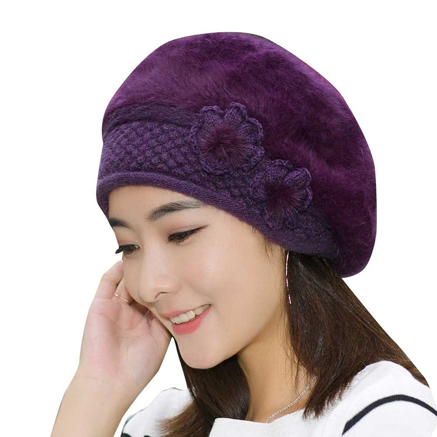 9f5efd3b46c91 Get Quotations · AutumnFall Beret Hat