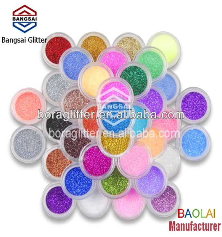 2018 PACKAGING with fluorescent glitter powder decoration