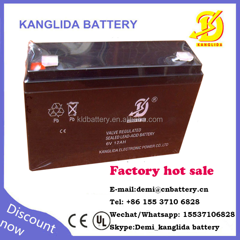 6v 12ah ups battery for kids toy car made in China Kanglida brand