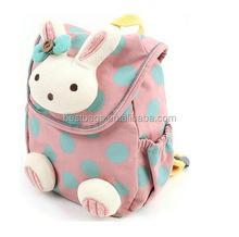Toddler detachable rabbit active school bags, cute kindergarten kids backpack school bag