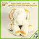 Promotional gift white and orange custom elephant stuffed plush toy wholesale china