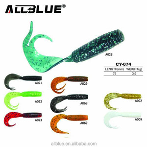 ALLBLUE Soft Rubber Fishing Lure Fishing Shad Bait Soft Worm Lure Split Tail Soft Artifical Lure Baits