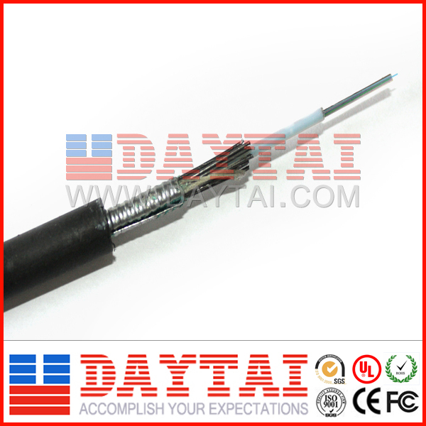 Outdoor 12 Core Aerial or Duct,Direct Burial Armored Fiber Optic Cable price per meter GYXTS
