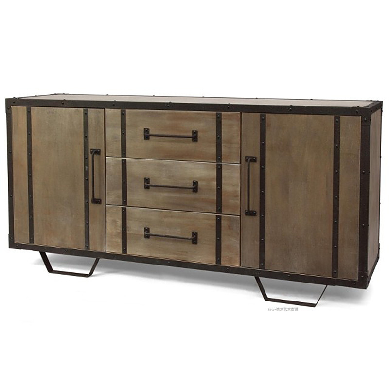 The New Iron Do Old Vintage Wood Storage Cabinet Wooden Finishing Cabinets