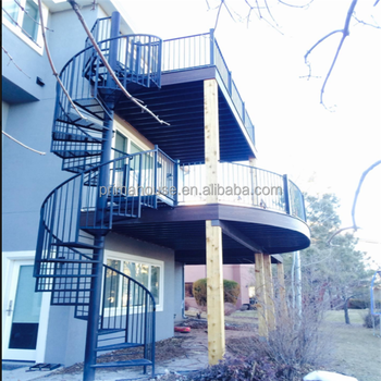 Contemporary Banisters Steel Staircase Design Kerala Spiral