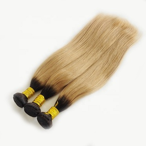 Single Donor Cuticle Aligned Wholesale Remy Brazilian Hair Weave 1B 27 Color