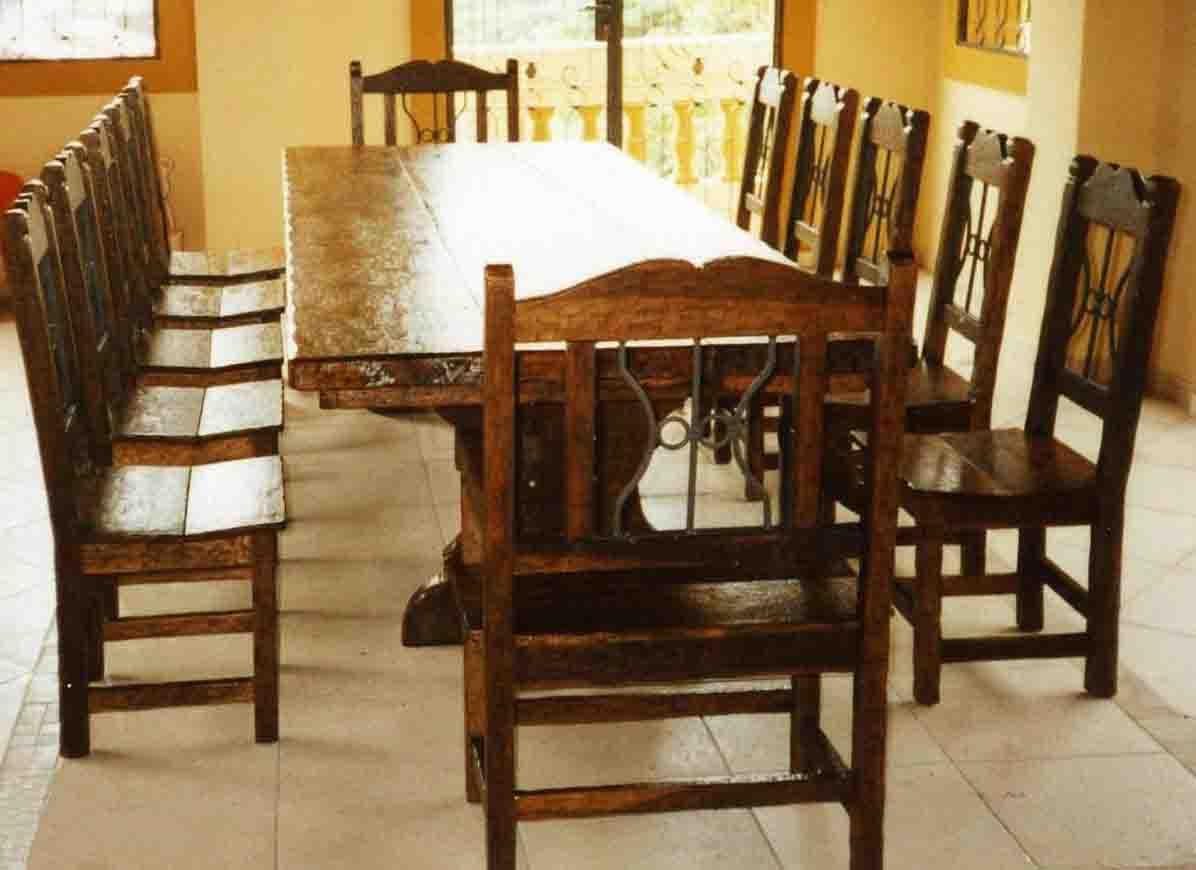 Juego de comedor de estilo r stico conjuntos de muebles de - Muebles de comedor rusticos ...