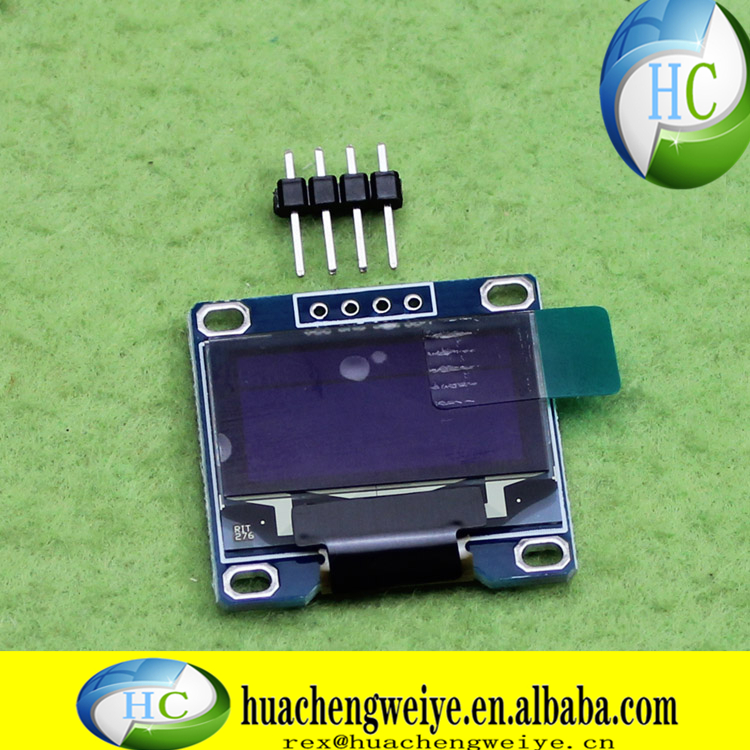 096 inch OLED display 12864 LCD module IIC interface 128