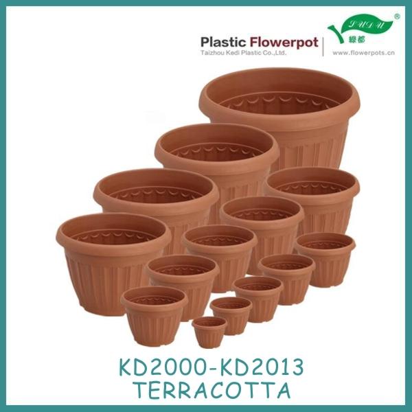 Diff rentes tailles en plastique pot de fleur en terre cuite couleur pots fleurs - Pot de fleur plastique grande taille ...