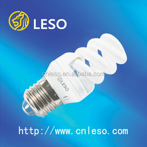 2016 main products energy saving lamps 13W 9mm full spiral e27 base daylight