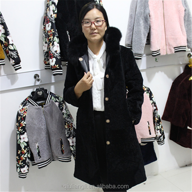 China Supplier Australian Sheepskin Coat Women Winter Cashmere Sheep Skin Fur Jacket