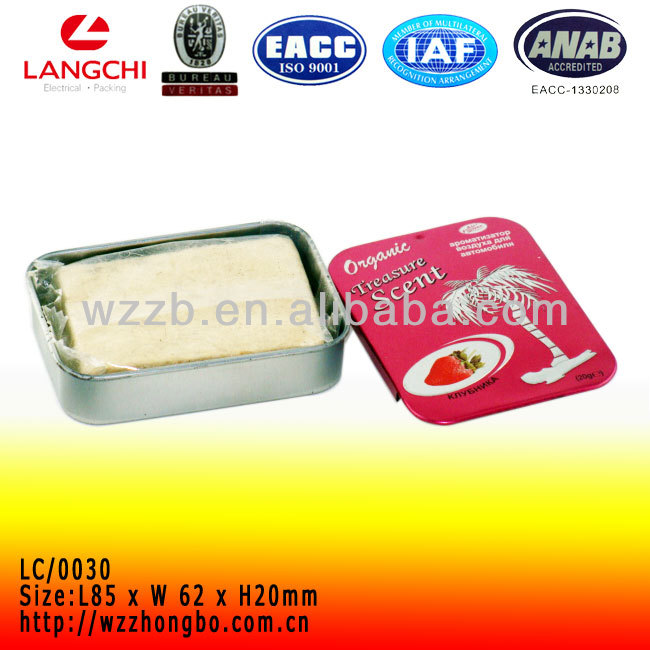 Metal chewing gum box packing with sliding lid