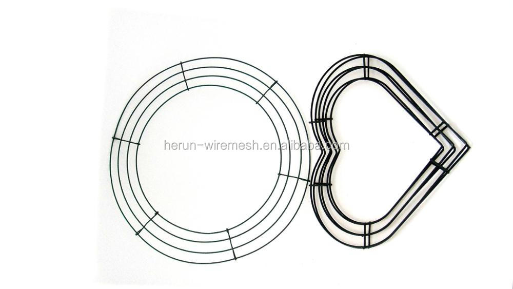 Christmas Decoration Supplies Metal Wire Wreath Frame/ Christmas ...