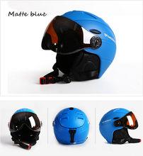 Луна скейтборд лыжи шлем интегрально-Литые очки лыжный шлем мужчины женщины мужчины взрослые Спорт на открытом воздухе шлем для сноуборда M...(Китай)