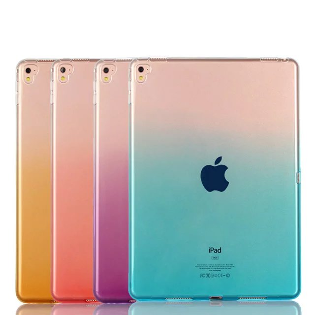 New Arrival Ultra Thin Gradient Transparent Soft Case For <strong>iPad</strong> Pro 9.7 inch