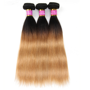 Manka 1 / 3 / 4 Bundles Blonde Brazilian Straight Hair Bundles Ombre Human Hair Bundles 1b 27 Brazilian Hair Weave Bundles